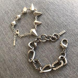 Set of (2) Jewelmint Silver bracelets